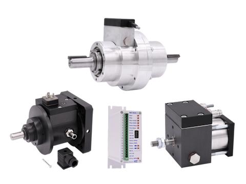 KBS Kupplungs-Brems-System - Gruppenbild mit RotaStep, SRA, FLA und Ansteuerung MSC02 - groß