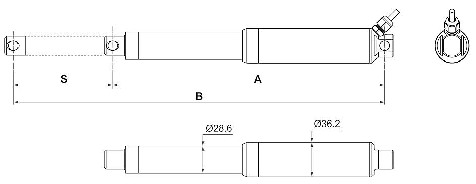 DSZY35 Maßbild