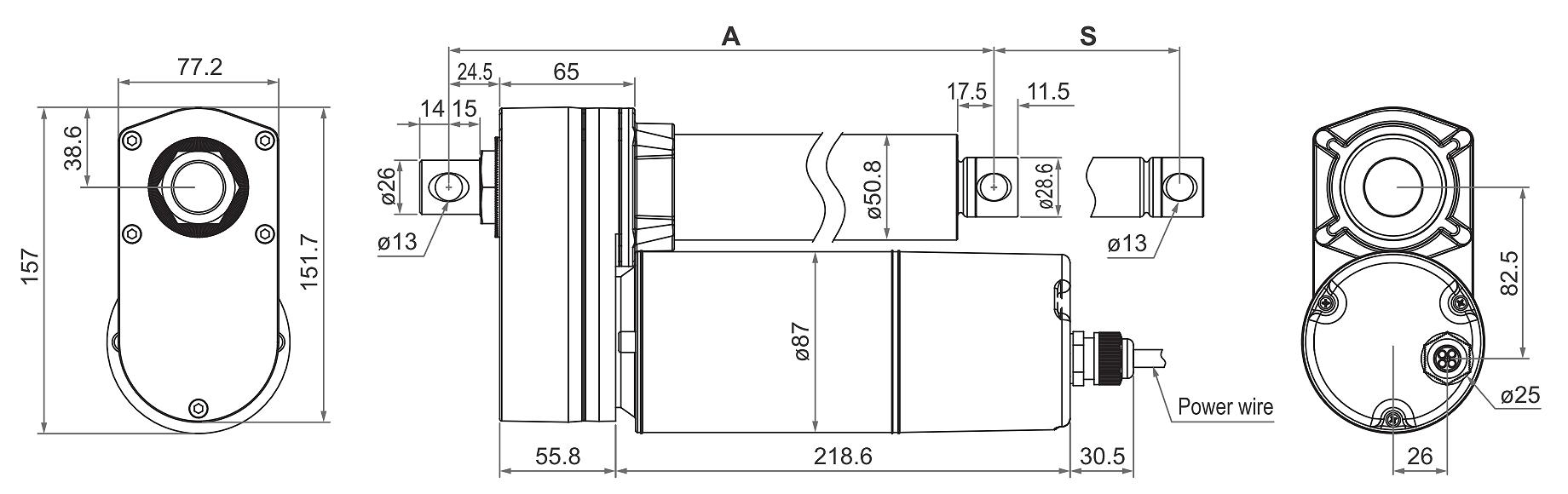 DSZY6 Maßbild - Variante Standard